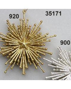 Silberglimmer Strahlen-Stern / silber / 35171.900