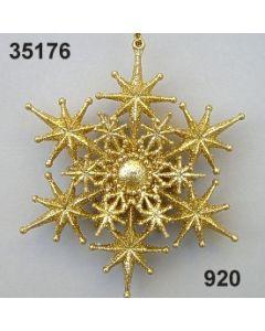 Goldglimmer Sterne-Stern / gold / 35176.920