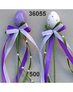Osterei klein am Holzstab gänzend / lila / 36055.500