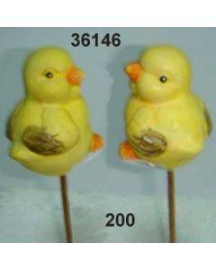 Keramik Küken am Stab / gelb / 36146.200