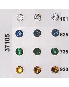 Glasstein geschliffen ⌀8mm / kristall / 37105