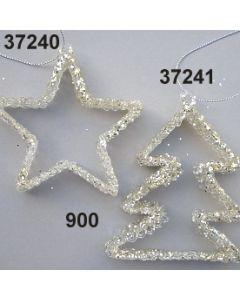 Glasstern offen Glimmer / silber / 37240.900