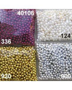 Wachsperlen / Metallperlen Acryl 6mm / 40106