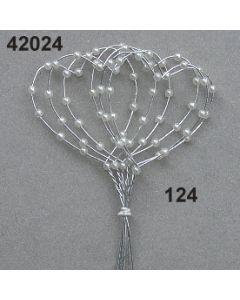 Perl-Draht Herz / champagner / 42024.124