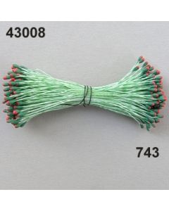 Staubgefäße flach 1,5-2mm / grün-rot / 43008.743