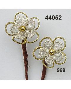 Bouillon-Blume 2fach / gold-silber / 44052.969