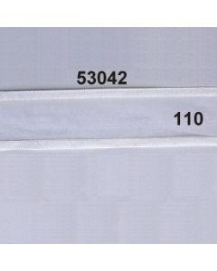 Organdyband m.Satinrand / 42mm / weiß / 53042.110