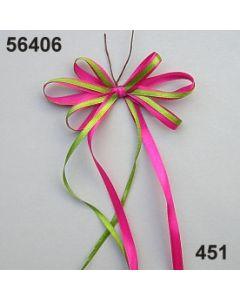 Satin-Schleife am Draht / rosa-grün / 56406.451