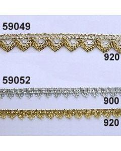 Lurex-Spitze Zacken / 15mm / gold / 59049.920