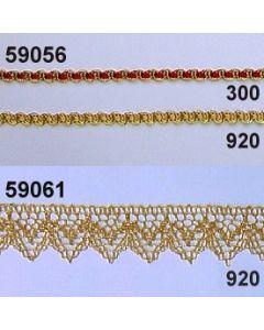 Lurex-Spitze Zacken / gold / 59061.920