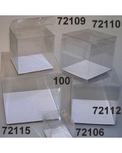 Klarsicht Würfel Verpackung 10 cm / glasklar / 72110.100