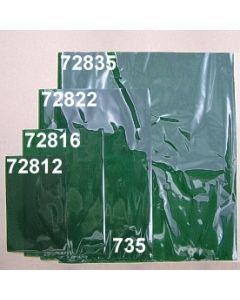 Polypropylenbeutel 12x18,5 cm / dunkelgrün / 72812.735