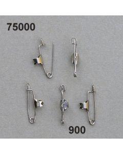 Anstecknadeln mit Kralle 100 Stk./ silber / 75000.900