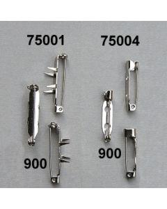 Anstecknadel mit Lochplatte 100 Stk./ silber / 75004.900