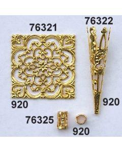 Goldplättchen Quadrat / gold / 76321.920