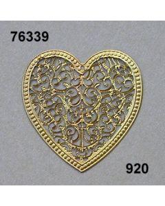 Filigran Ornament Herzform / gold / 76339.920