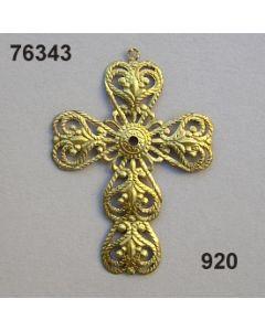 Filigran Ornament Kreuz / gold / 76343.920