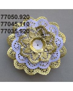 Biedermeier-Manschette / weiß / 77045.110
