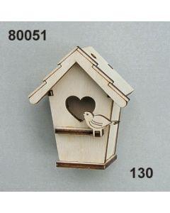 Holz-Vogelhaus / natur / 80051.130