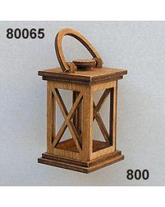 Holz-Laterne klein / braun / 80065.800