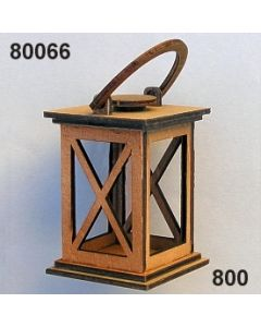 Holz-Laterne mittel / braun / 80066.800