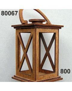 Holz-Laterne groß / braun / 80067.800
