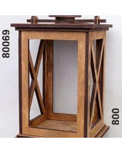 Holz-Laterne XL / braun / 80069.800
