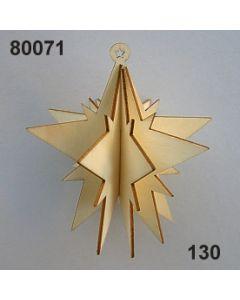 Holz-Stern 3D / natur / 80071.130