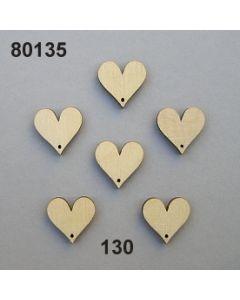 Holzherz mini flach / natur / 80135.130