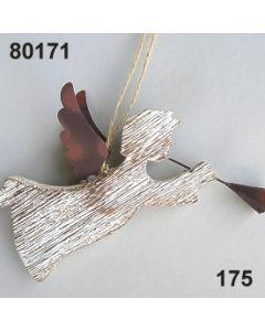 Holz Engel mit Trompete / natur-weiß / 80171.175
