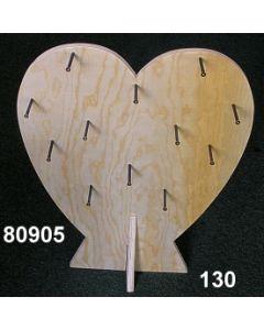 Holz-Herz Display / natur / 80905.130