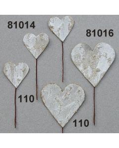 Birkenart-Herz klein am Stil / weiß / 81014.110