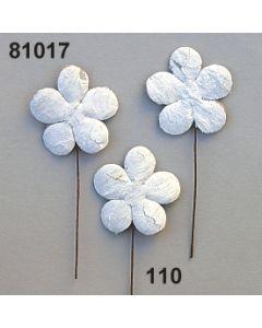Birkenart-Blume am Stiel / weiß / 81017.110