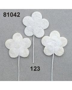Filz-Blume am Stiel / creme / 81042.123