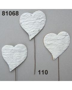 Birkenart-Herz Asymmetrie / weiß / 81068.110