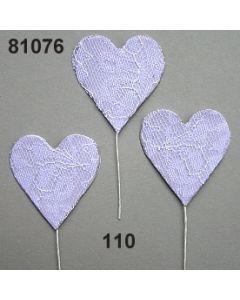 Spitzen-Herz am Stiel / weiß / 81076.110