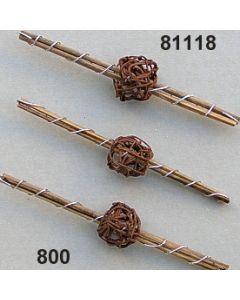 Staberl mit Draht und Ball / braun / 81118.800