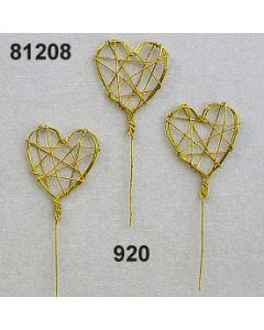 Draht-Herz klein am Stiel / gold / 81208.920