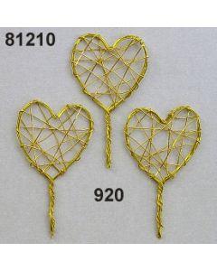 Draht-Herz am Stiel / gold / 81210.920