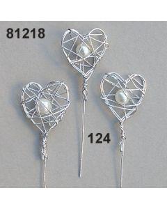 Draht-Herz mit Perle am Stiel / champagner / 81218.124