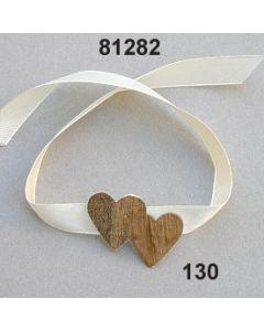 Doppel-Herz Armband 35cm / natur / 81282.130