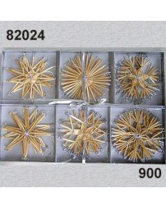Strohsterne Set Glimmer / silber / 82024.900