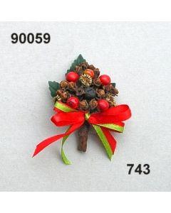 Gewürz-Beeren-Anstecker / grün-rot / 90059.743