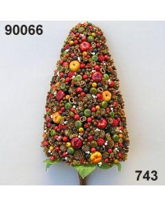 Gewürz-Beeren-Zopf XL / grün-rot / 90066.743