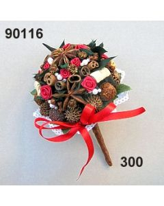 Bouquet Sternanis Ruskus / rot / 90116.300