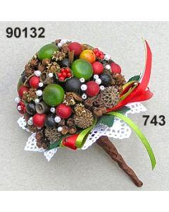 Gewürz-Beeren-Bouquet / grün-rot / 90132.743