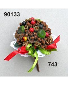 Gewürz-Beeren-Bouquet klein / grün-rot / 90133.743