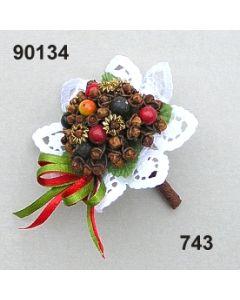 Gewürz-Beeren-Bouquet mini / grün-rot / 90134.743