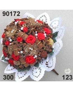 Bouquet Rose-Bouillon mittel ø 12x9 cm mit Bouillonblume / 90172
