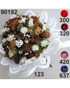 Rosen-Sternanis Bouquet groß ⌀ 12x9 cm mit Bouillonblume / 90192